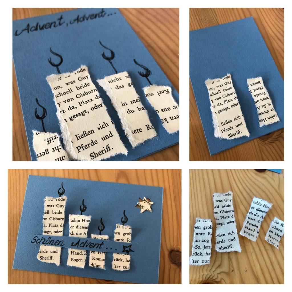Weihnachts-/Advents-Karten mit Kerzen