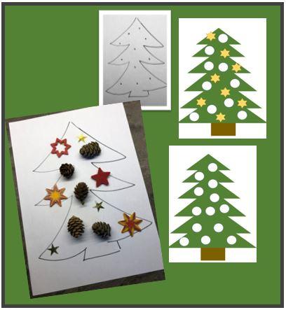 Legearbeit Weihnachtsbaum (3 Vorlagen)