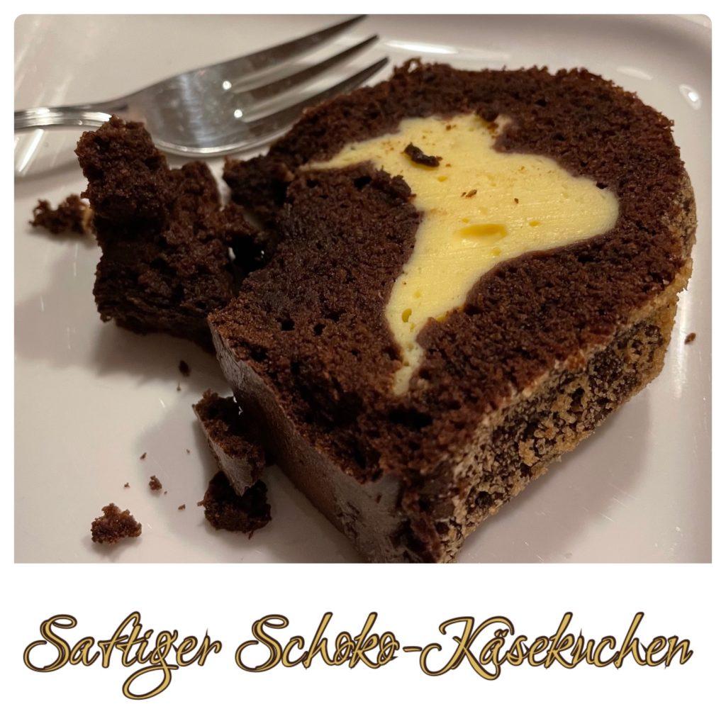 Saftiger Schokoladen-Käsekuchen