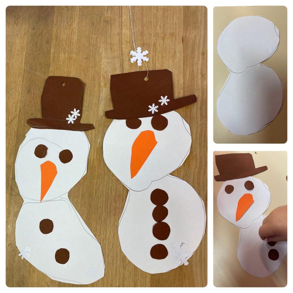Schneemänner aus Papier