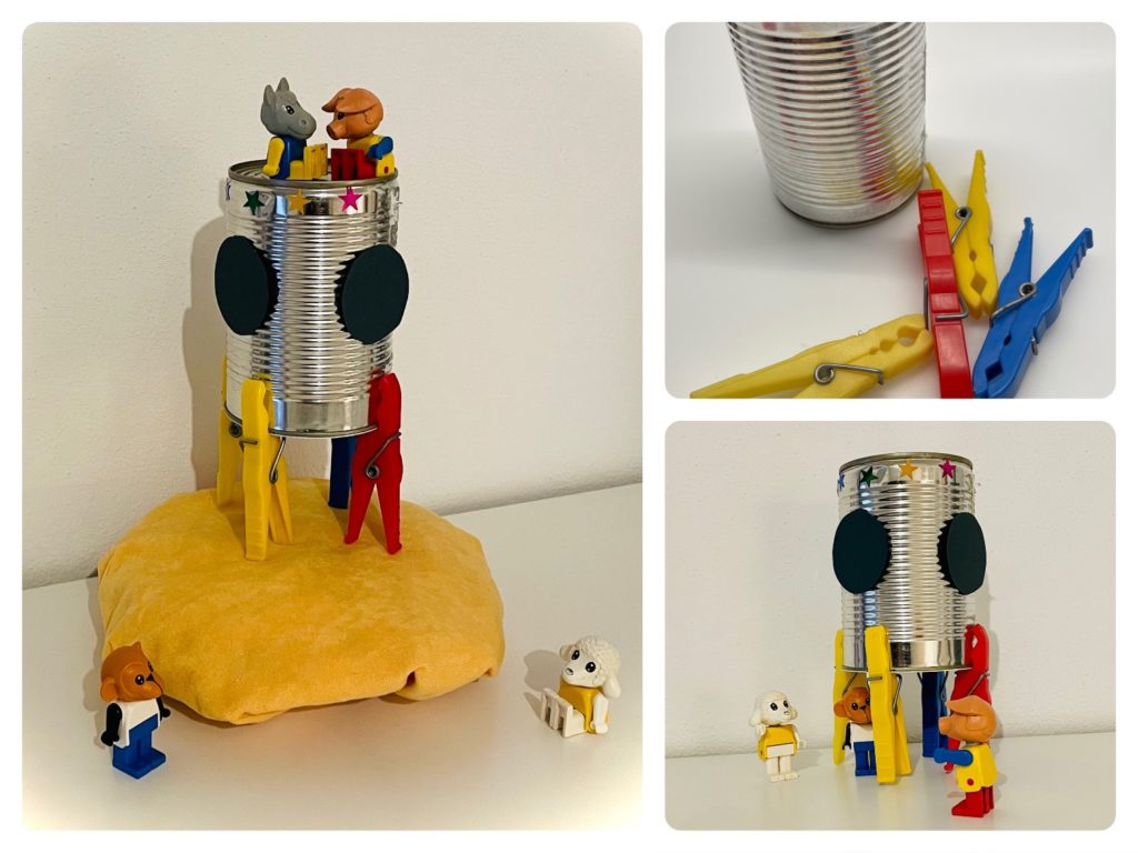 Blechdosen-Rakete