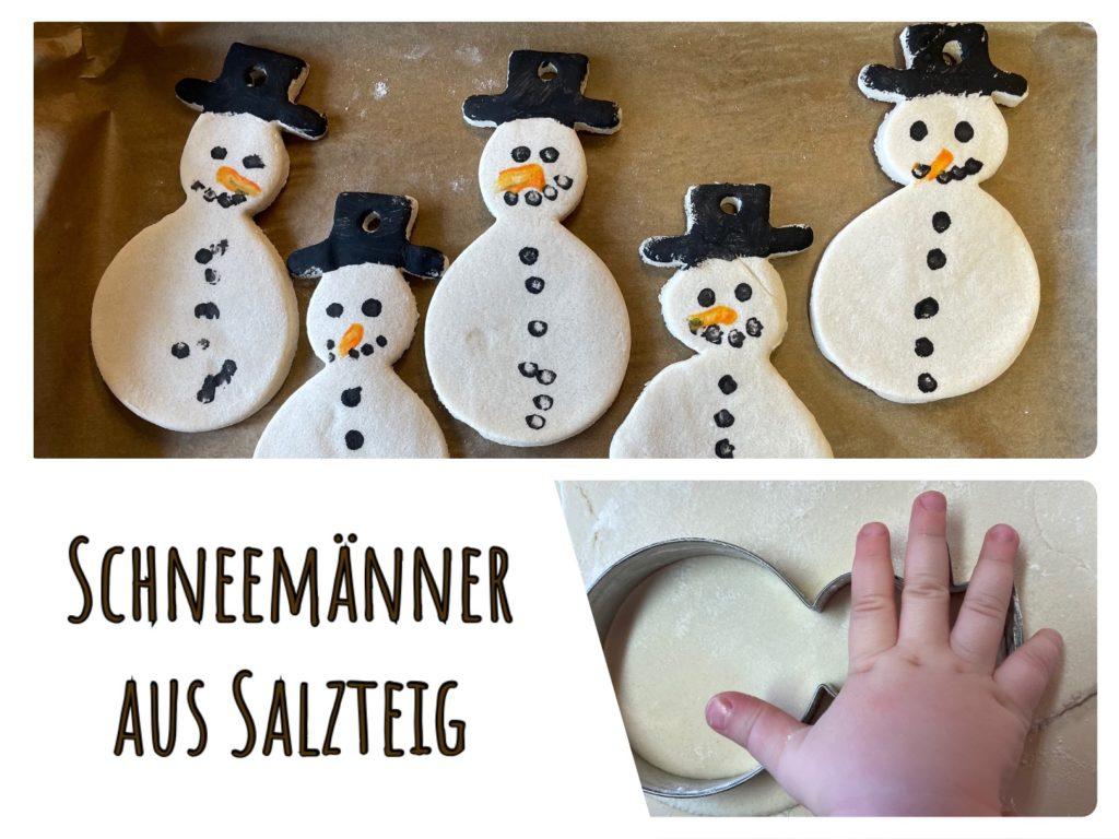 Schneemänner aus Salzteig