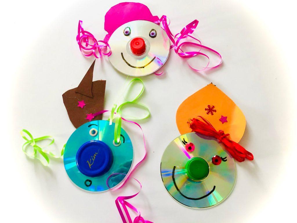 Clown-Gesichter (aus CDs)