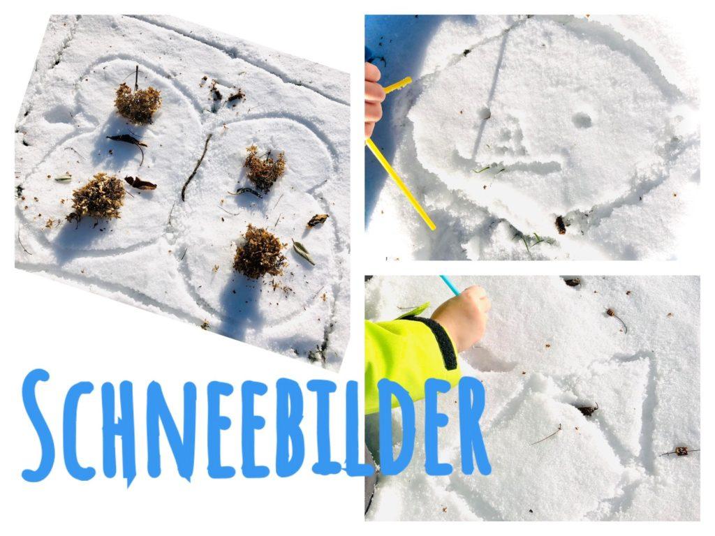 Schneebilder malen