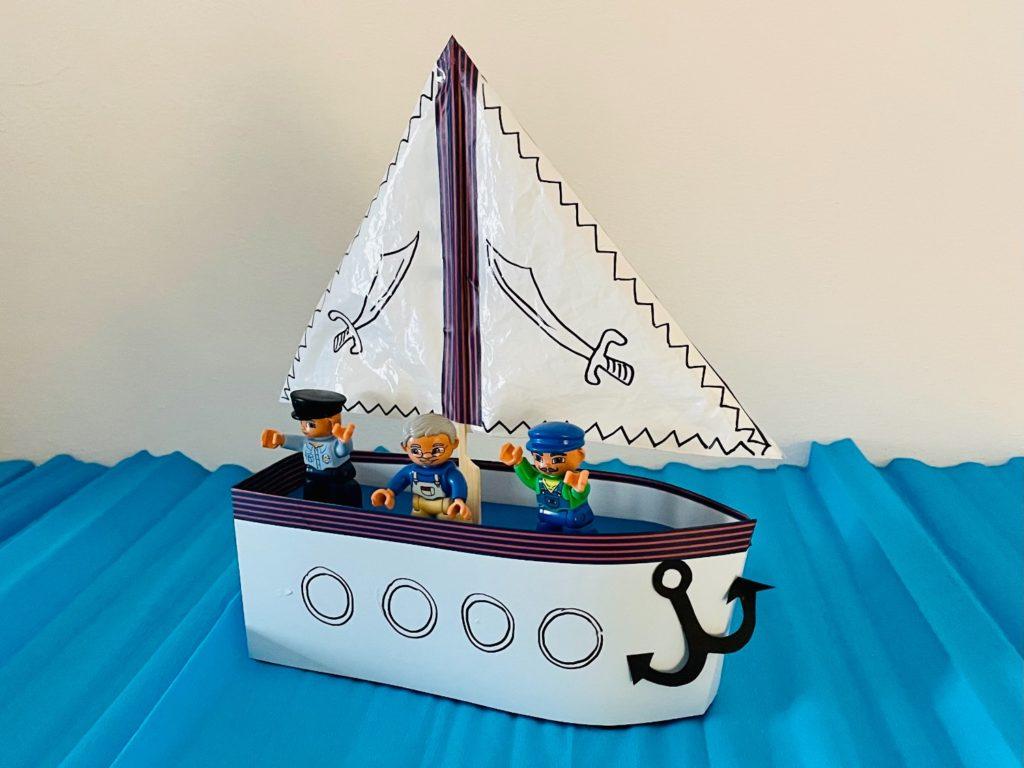 Segelschiff basteln (mit Vorlagen)