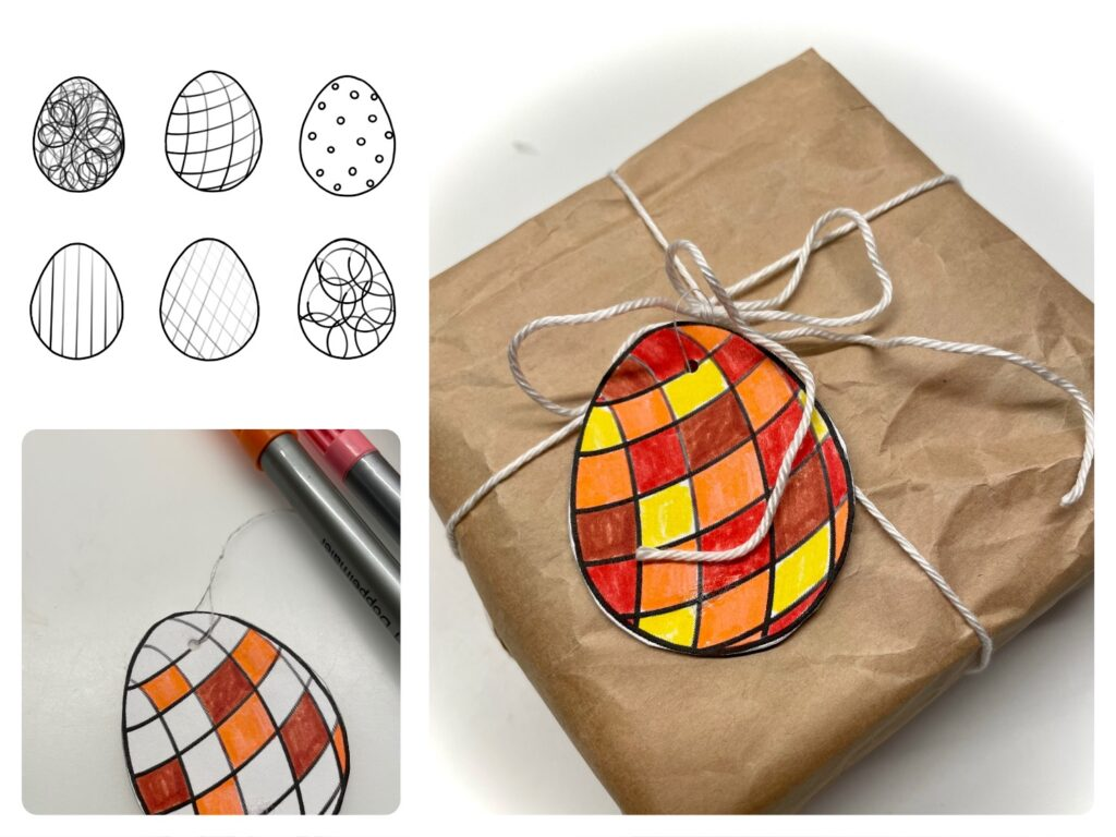 Geschenk-Anhänger für Ostern (2 Varianten)