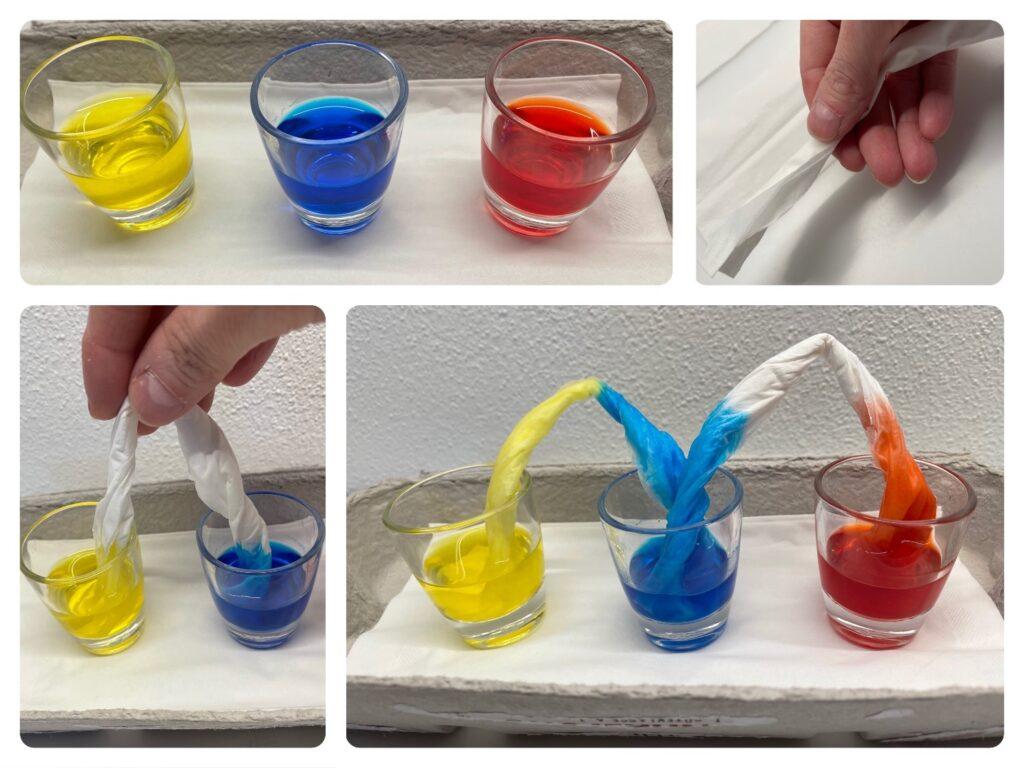 Experimente rund ums Wasserfärben