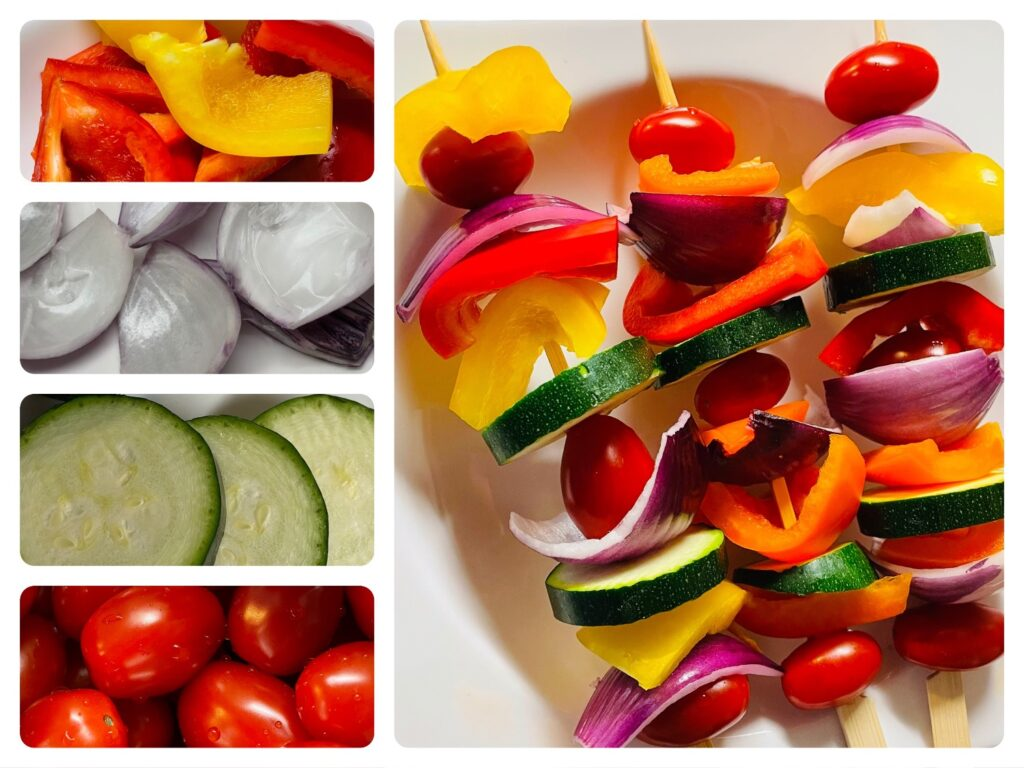 Gemüsespieße für den Grill