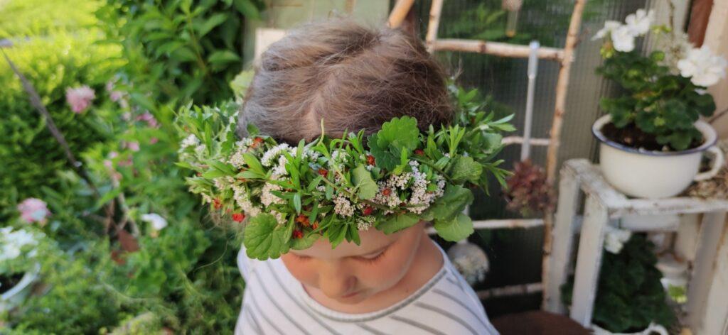 Blumen-Haarkranz für Sonnenwende (Litha)