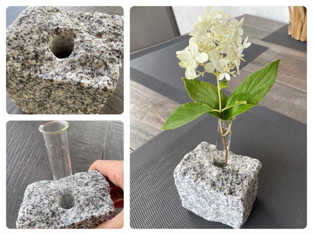 Granitstein-Vase