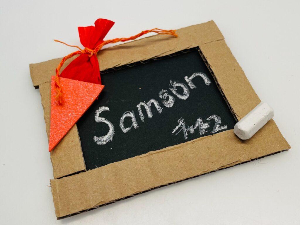 Tafel als Geschenkanhänger – Karte – Tischkarte