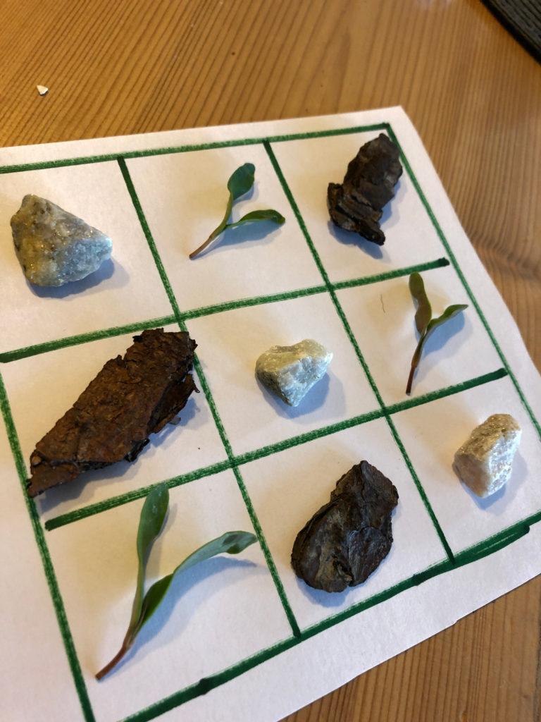 Sudoku mit Naturmaterialien