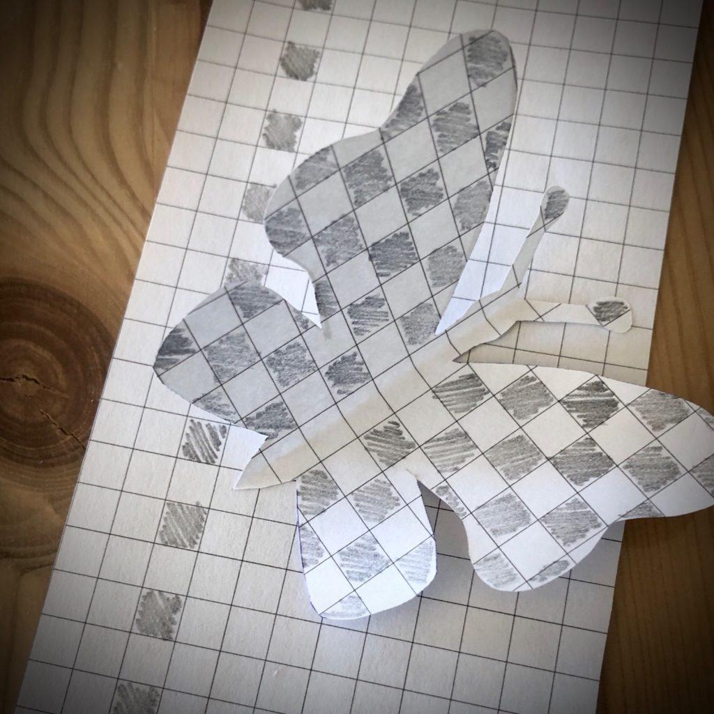 Schmetterling aus kartierten Papier