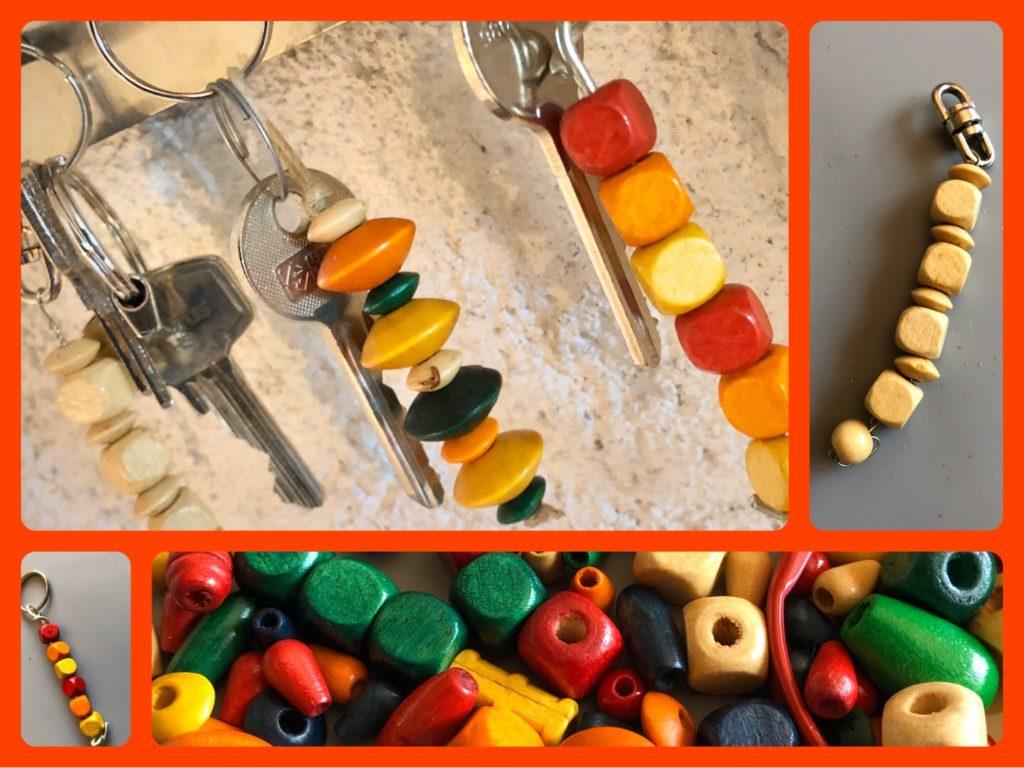 Schlüsselanhänger mit Perlen