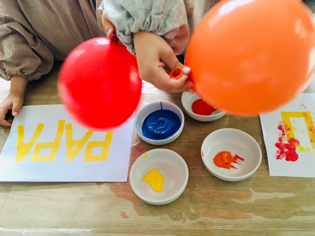 Tape-Art mit Luftballons