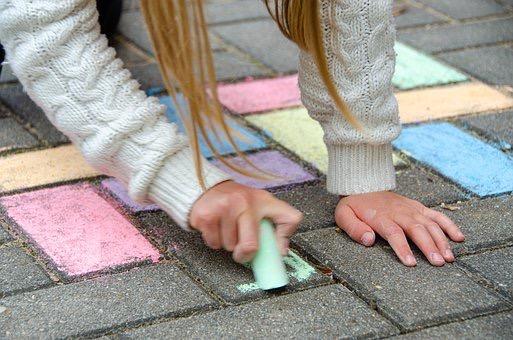 Muster & Mandalas malen mit Straßenmalkreide