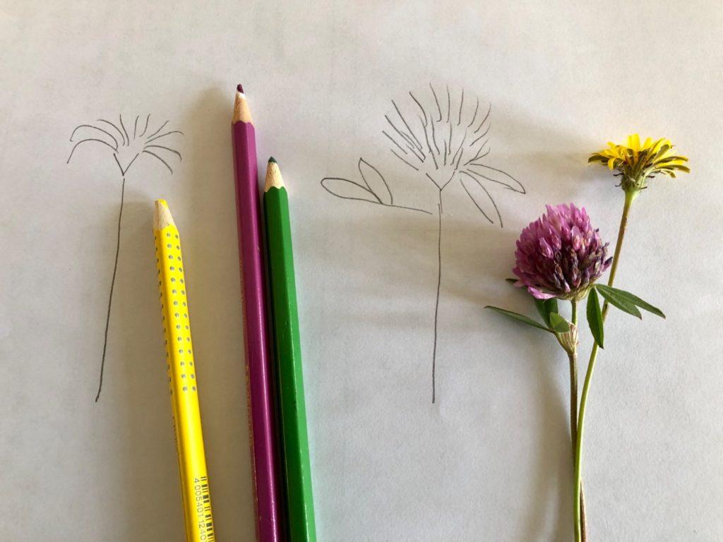 Blumen selber malen (einfach!)