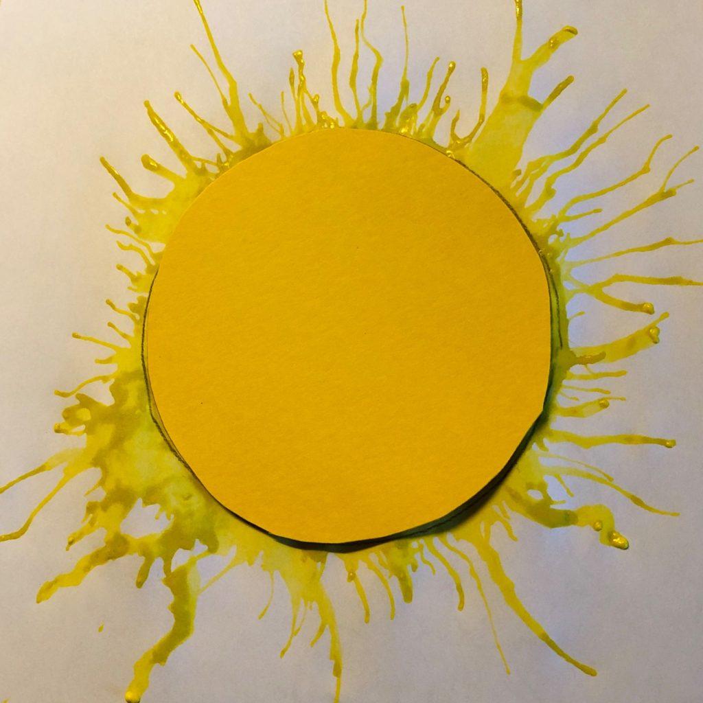 Sonne mit Strahlen: Pustetechnik