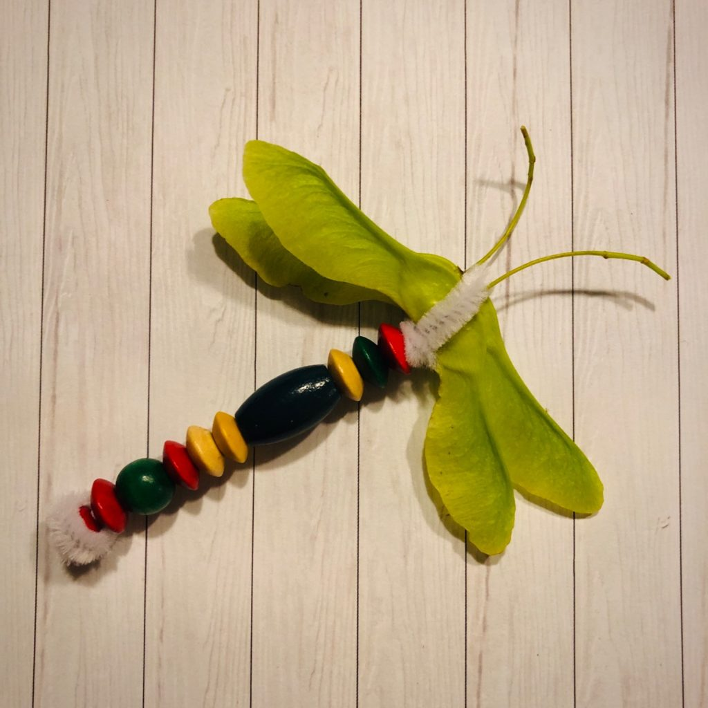 Libelle aus Ahornsamen
