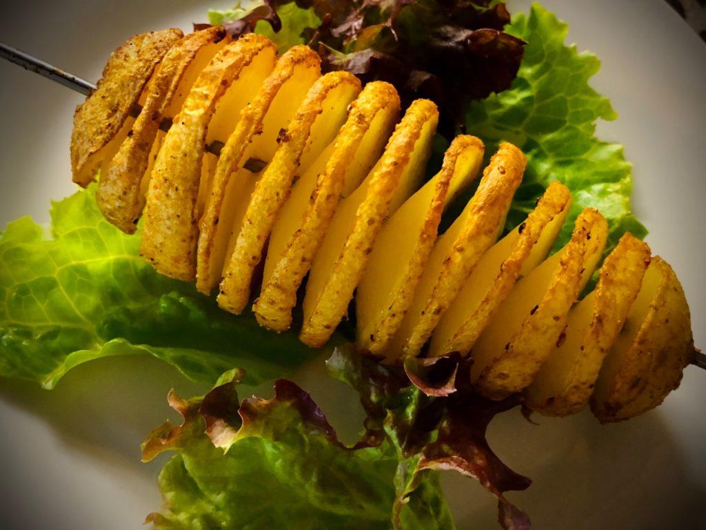 Spiral-Kartoffel am Spieß