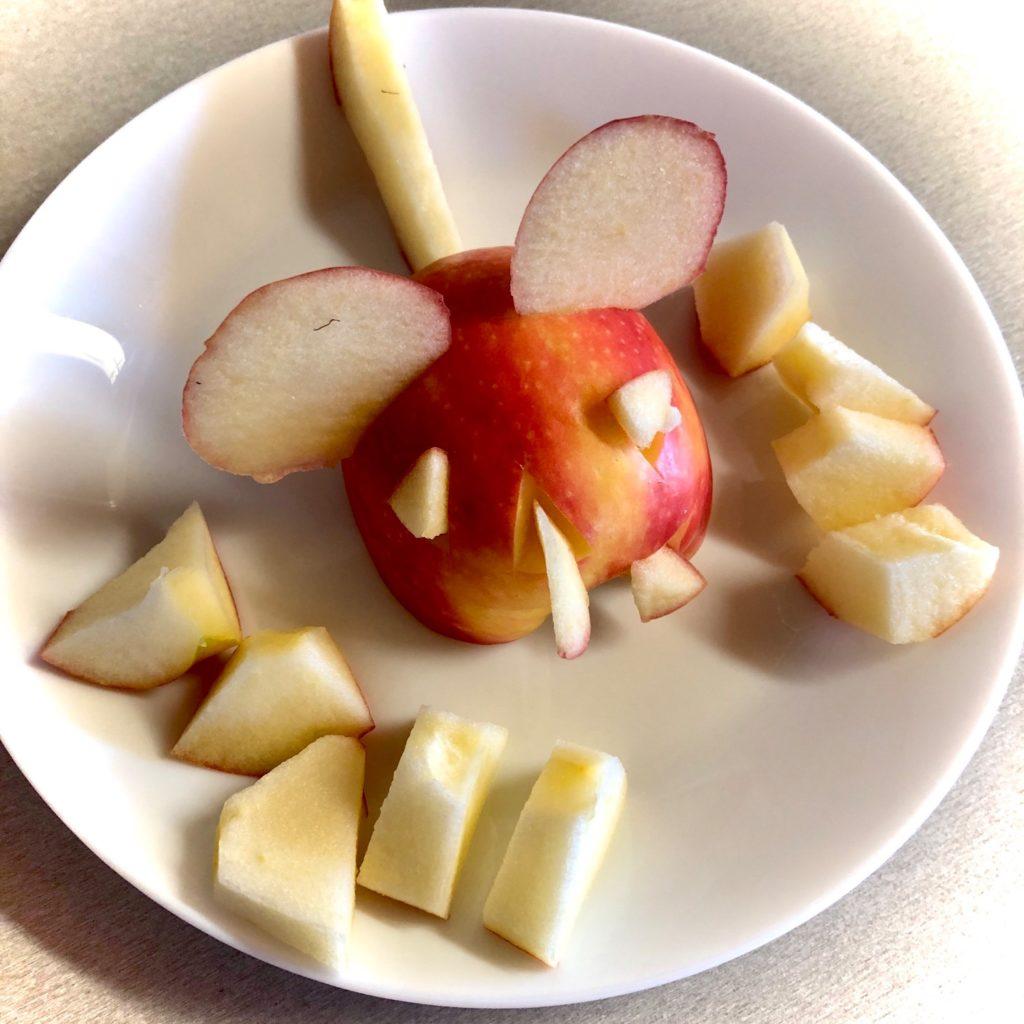 Apfel-Hexenmaus (Apfel schnitzen)