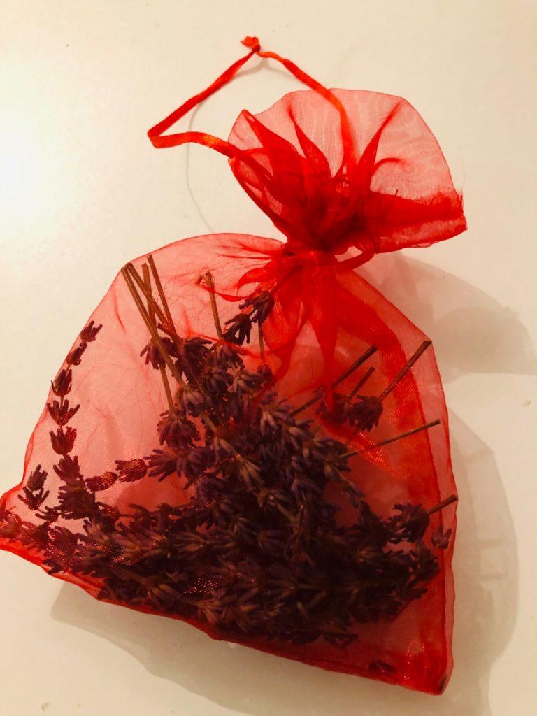Lavendelsäckchen (Organza-Säckchen)