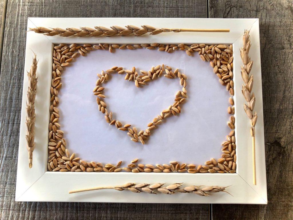 Herz aus Getreide