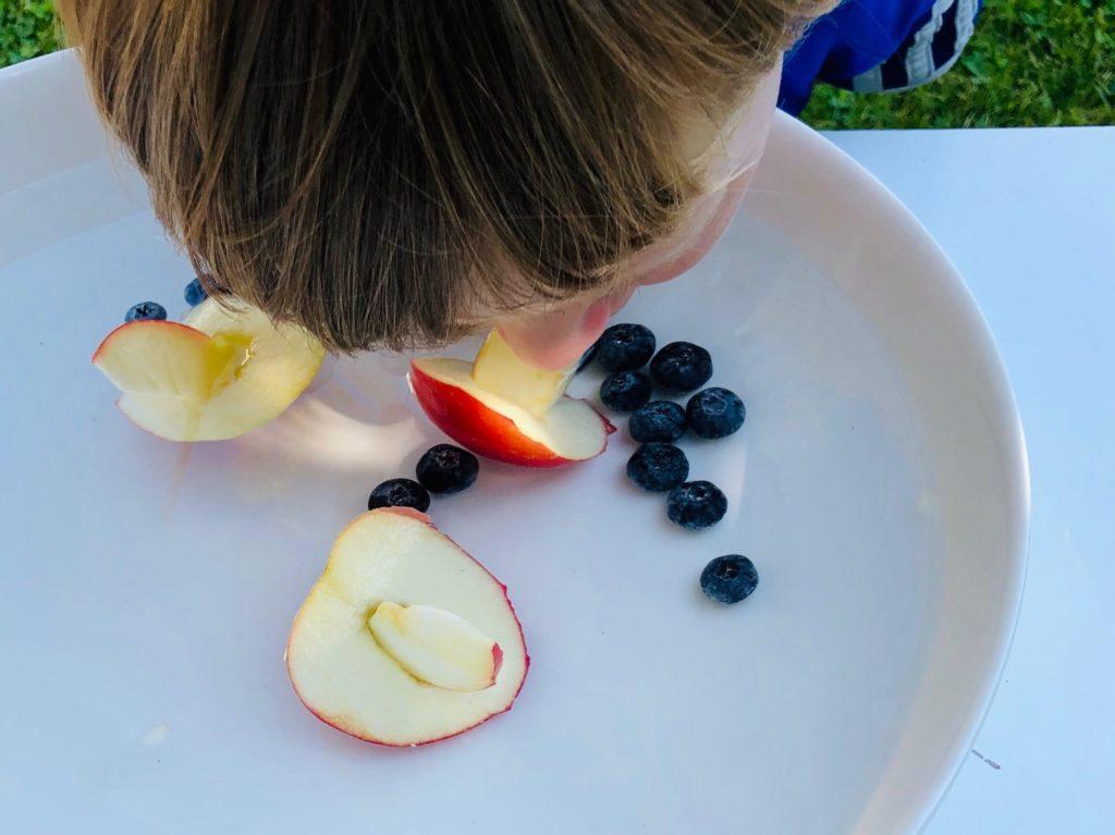 Apfel fischen – Früchte tauchen