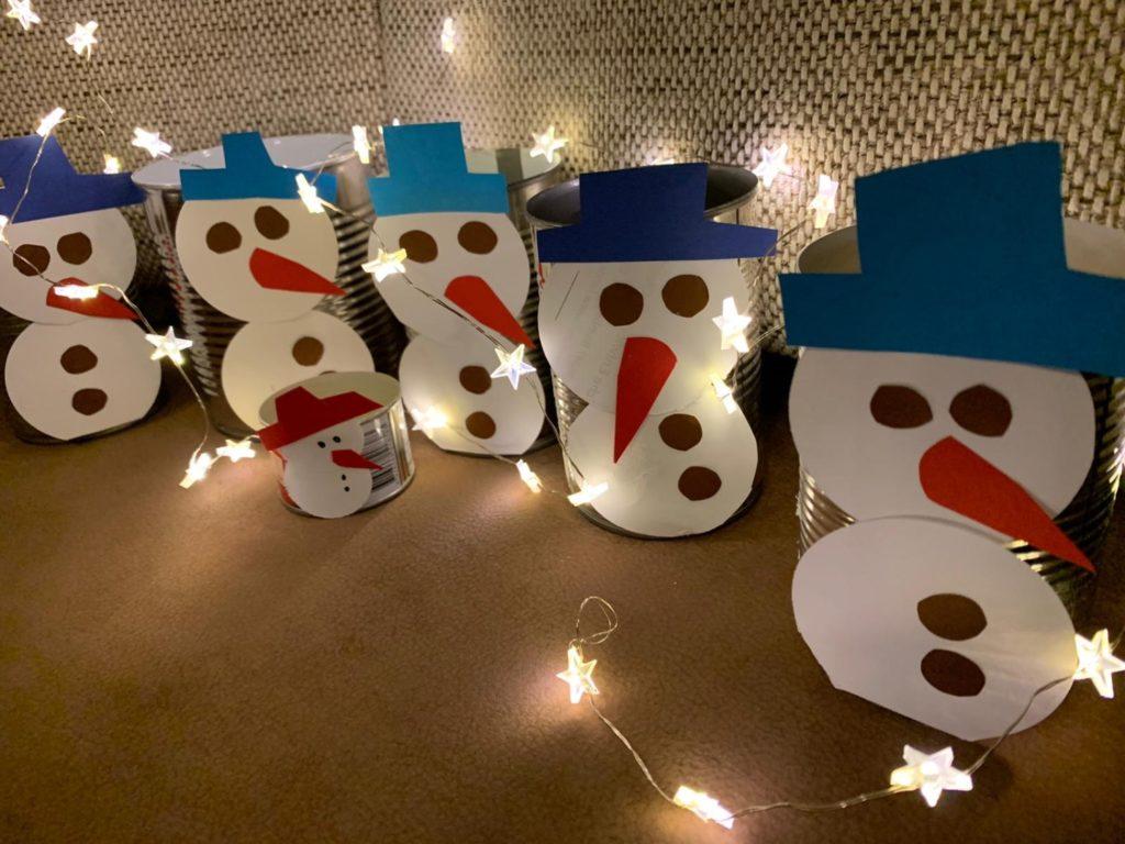 Adventskalender Schneemänner