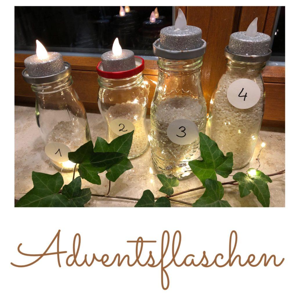 Adventsflaschen – der moderne Adventskranz
