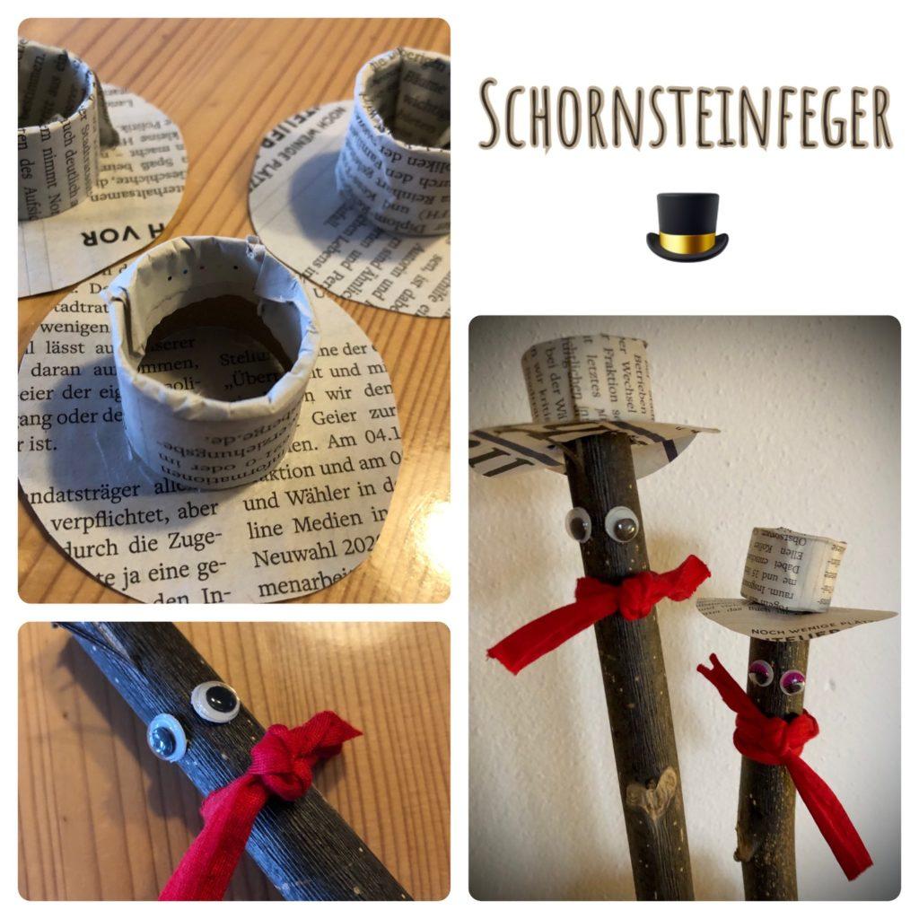 Schornsteinfeger – Glücksbringer basteln